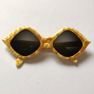 Vintage ray bans yellow white prescription lenses